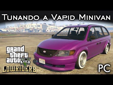Tunando a Vapid Minivan em Lowrider! MOD Oficina do Benny | GTA V - PC [PT-BR]