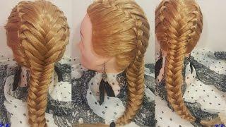 ФРАНЦУЗСКАЯ КОСА С КОЛОСКОМ Техника прически обучение на длинные волосы быстро легко и красиво