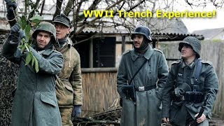 Spending the NIGHT in a WWII TRENCH - Wind and Rain - Trench Experience December 2019
