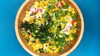 Новогодний Крабовый салат Легкий Вкусный и Простой рецепт