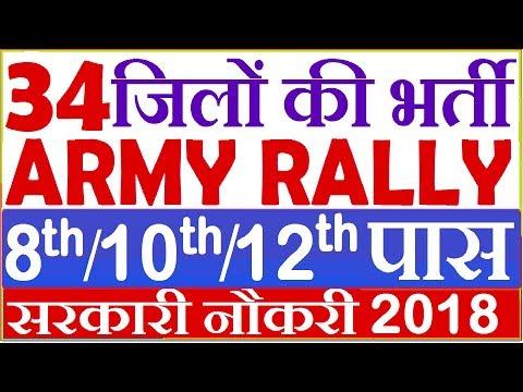 34 Districts Army Bharti 2018 | 8th Pass Indian army bharti 2018 |mp army bharti 2018 sarkari naukri