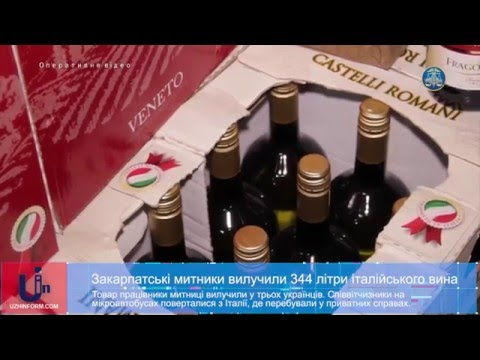 Закарпатські митники вилучили 344 літри італійського вина