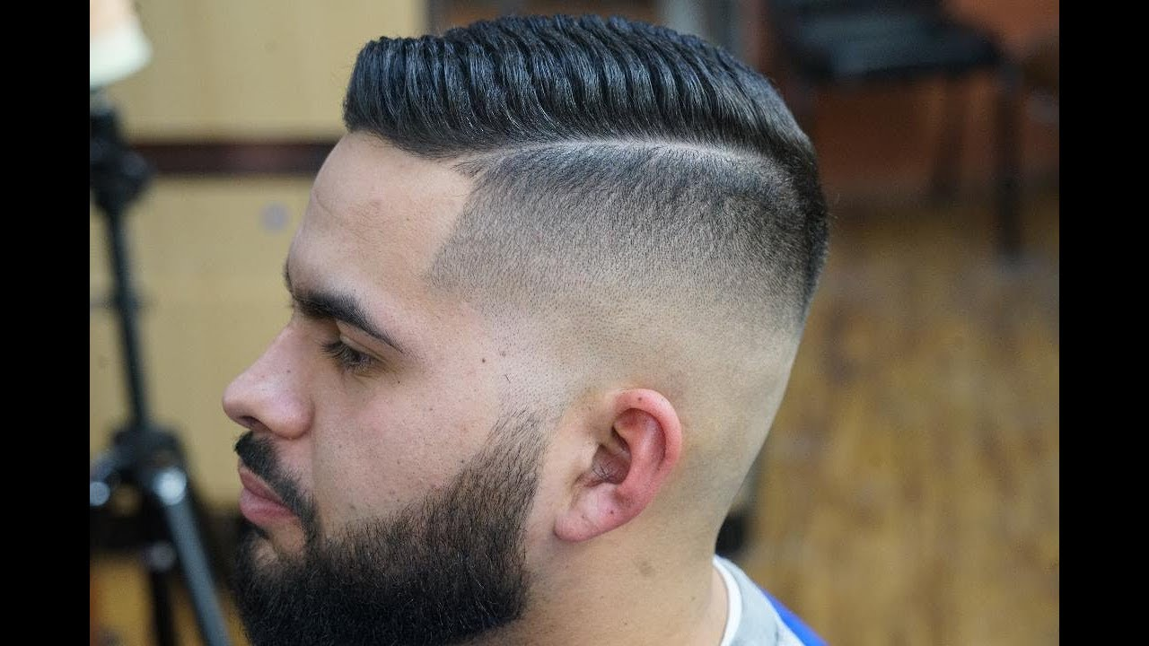 Barber Tutorial Skin Fade With Straight Razor Comb Over And Beard