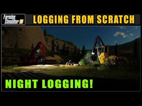 Night of The Living Chipper | Farming Simulator 2019 | Logging From Scratch | Grizzly Mountain #38
