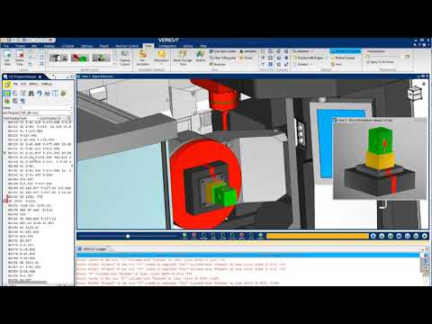 VERICUT CNC Simulation of an Okuma MU6300V
