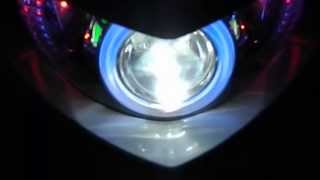YAMAHA MIO SOUL I DOUBLE ANGEL EYE HID PROJECTOR
