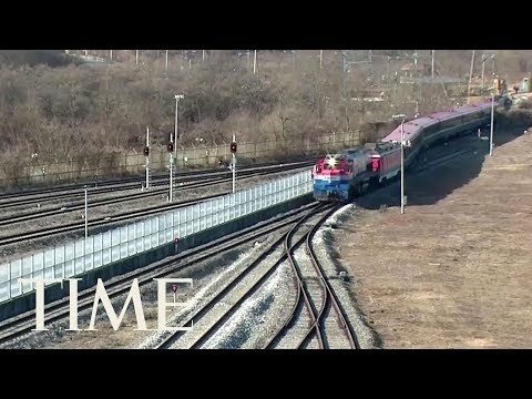North And South Korea Hold Groundbreaking Ceremony For Railway Project Stalled By Sanctions | TIME