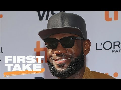 First Take reacts to LeBron James visiting L.A. high school | First Take | ESPN