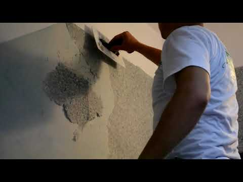 Подготовка стен и нанесение жидкие обои ТМ Юрски