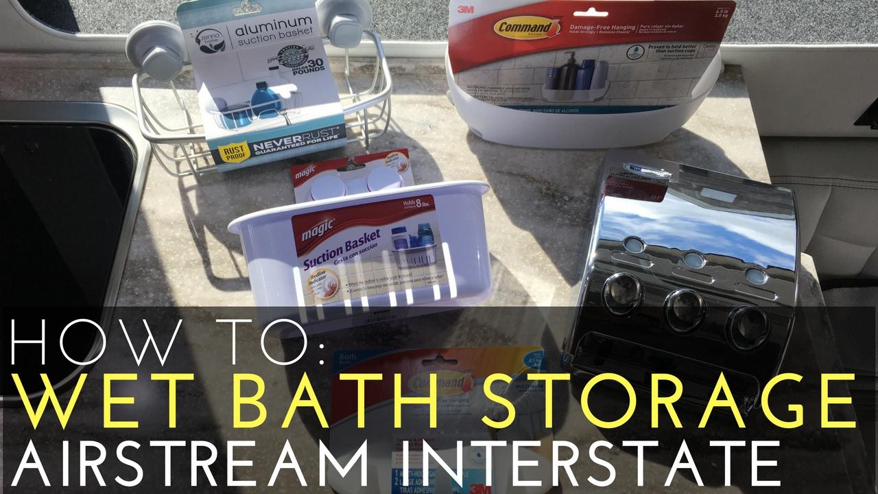 HOW TO RV Wet Bath Storage