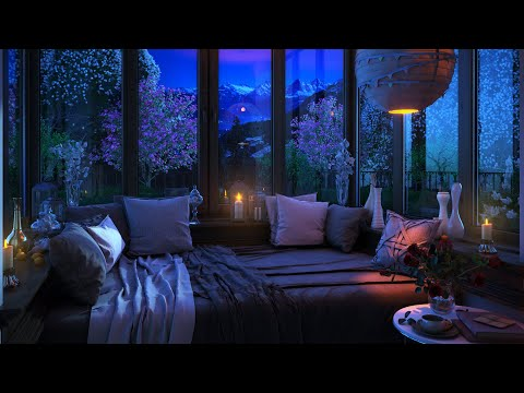 Go to Sleep w/ Rain Falling on Window | Relaxing Gentle Rain Sounds for Sleeping Problems, Insomnia
