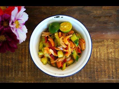 Kerabu Timun Spicy Cucumber Salad Episode 2 Garden To Table