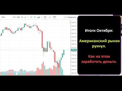 Октябрь: Американский рынок рухнул. Обвал - Как на этом заработать деньги.
