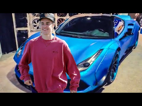 JUSTIN BIEBER BRINGS LIBERTY WALK FERRARI 488 TO SEMA!