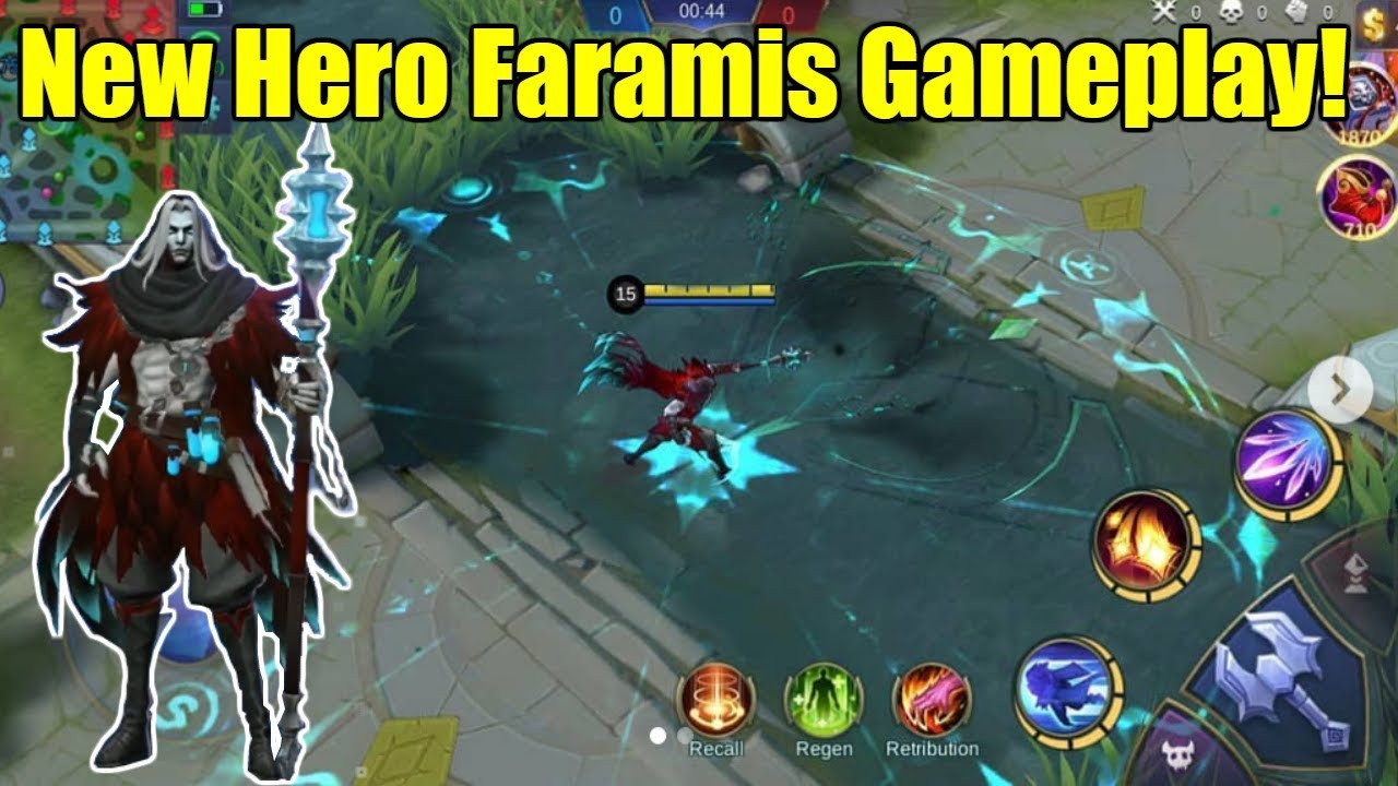 mobile legends - new hero faramis gameplay! skill review!