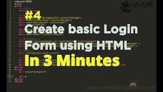 HTML Tutorial 4 - Web Design Course | Learn Basic HTML Login Form | Web Design Basics | HTML CSS