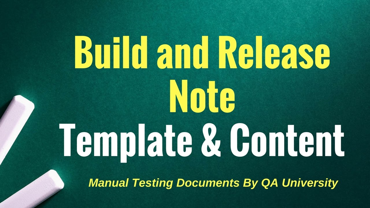 Build and Release note sample document - YouTube