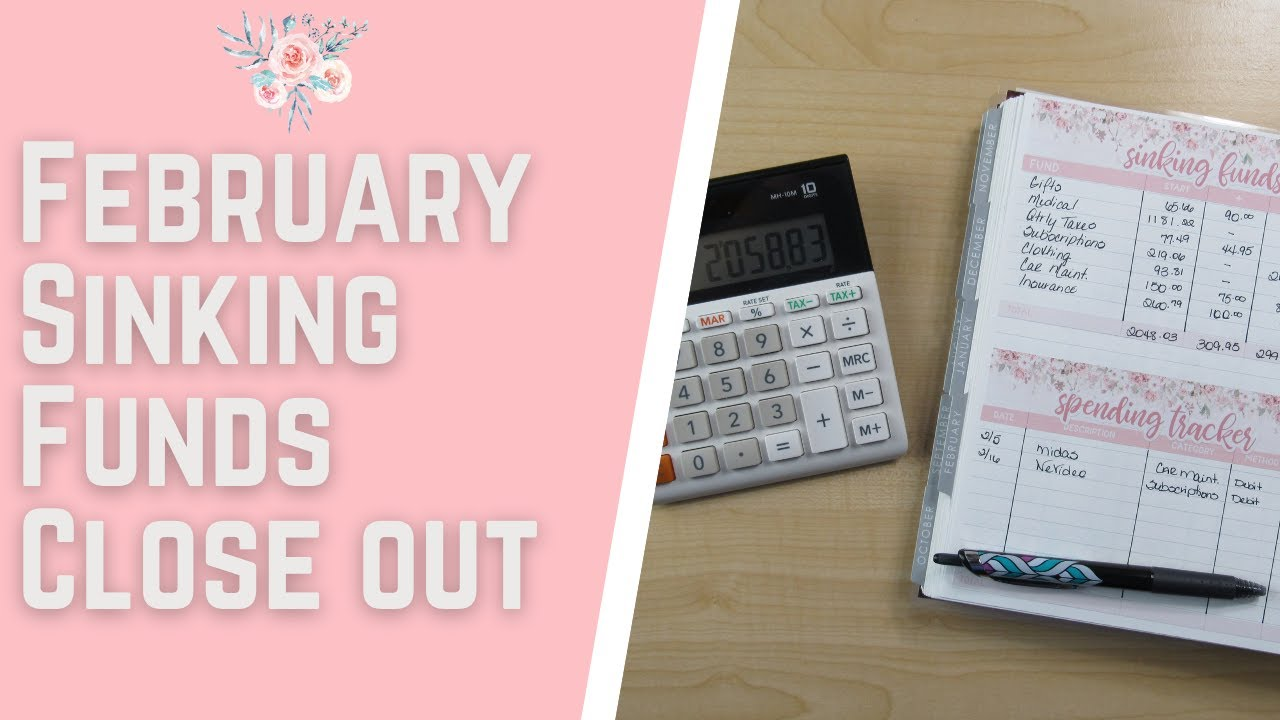 Budget with Me| February 2021-Sinking Funds Close out| Debt: $35,512.30