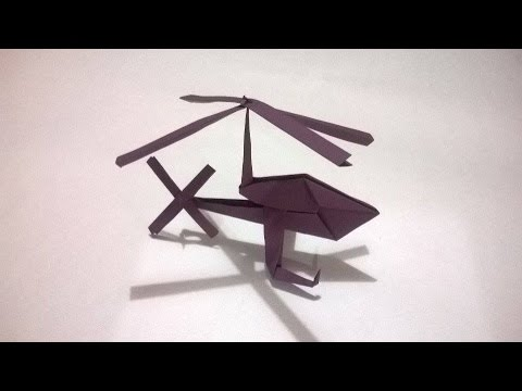Origami Helicoptero De Papel How To Make A Paper Helicopter Youtube