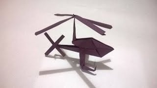 ORIGAMI - HELICOPTERO DE PAPEL - How to make a paper helicopter