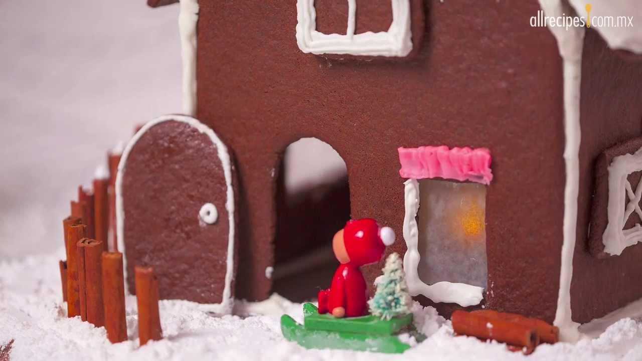 Casa navide a de galleta de jengibre youtube - Casa de jengibre ikea ...
