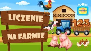 Zwierzęta na Farmie - Nauka liczenia dla dzieci po polsku - Wiejskie Zwierzęta