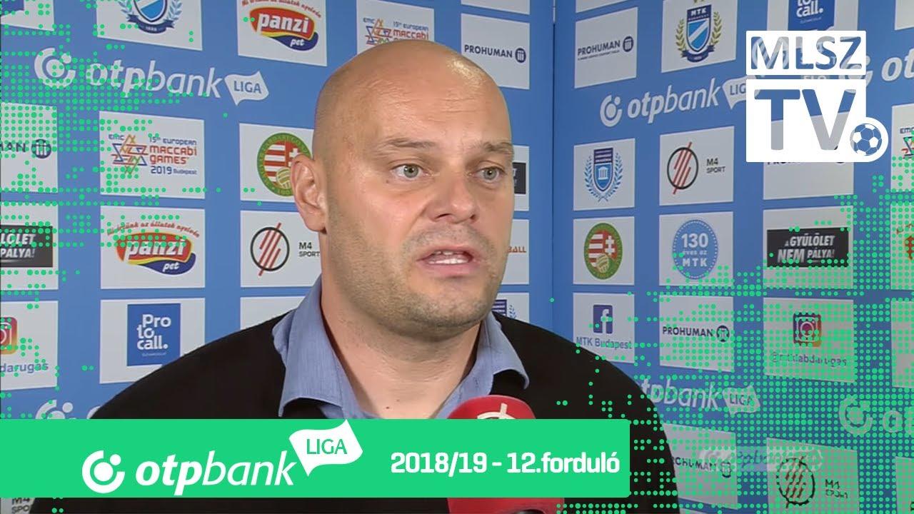 Edzői értékelések az MTK Budapest - Újpest FC mérkőzésen