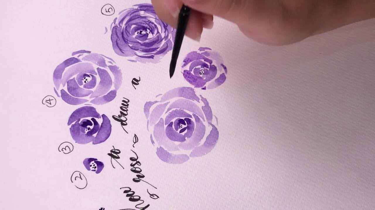 Watercolor rose tutorial a step by step guide youtube for How to paint a rose in watercolor step by step
