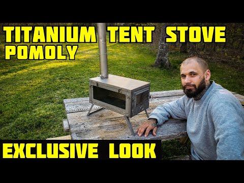 Titanium Tent Stove For Winter Camping