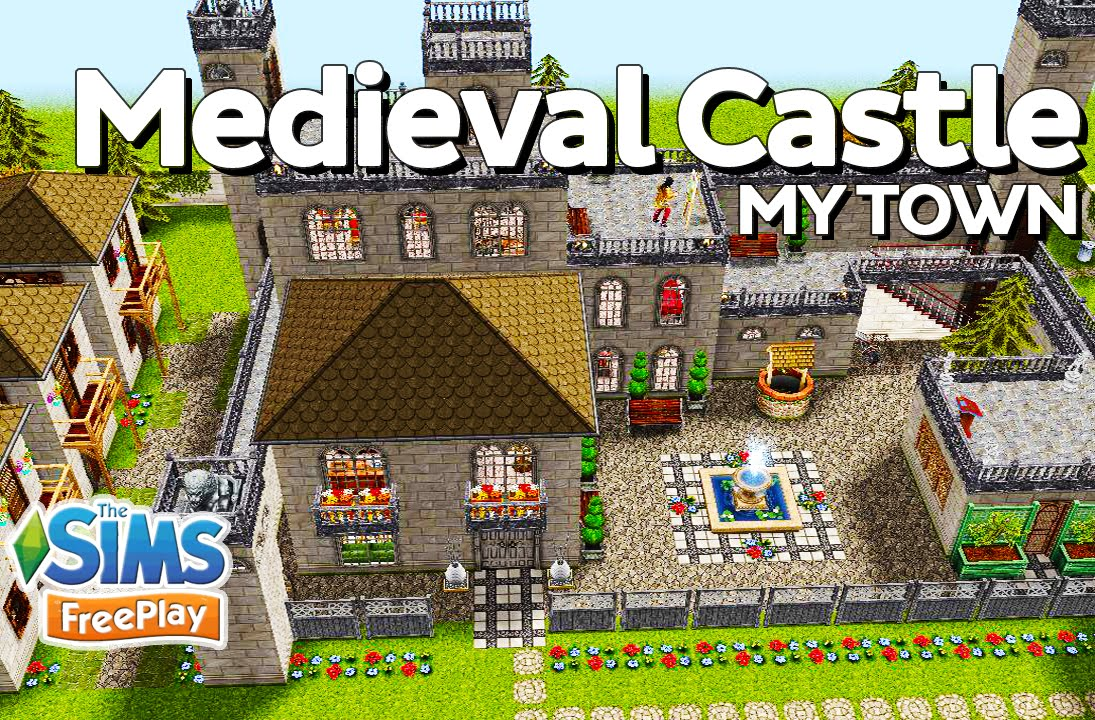 the sims freeplay medieval castle original design youtube
