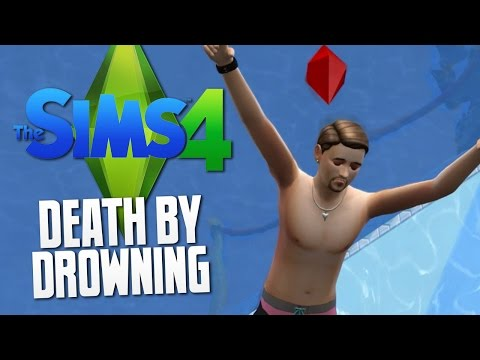 The Sims 4 - DEATH BY DROWNING / SWIMMING POOL - The ...