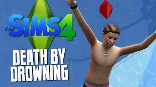 The Sims 4 - DEATH BY DROWNING / SWIMMING POOL - The Sims 4 Funny Moments #25