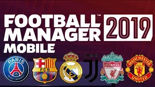 Download Football Manager 2019 Mobile APK + Data + Club Logo + Save Data Real Name FMM 19