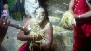 Snake God in Human Body  - Naga Darshana Indian Religious Ceremony Hindu Ritual in HD