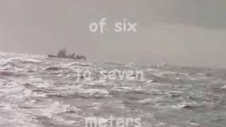 Arrastrando con olas de seis a siete metros
