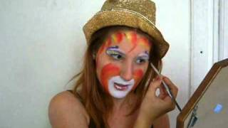 Auguste Clown Makeup Design~  Rainbow Cake Twist ~ Diamond Fx Paints