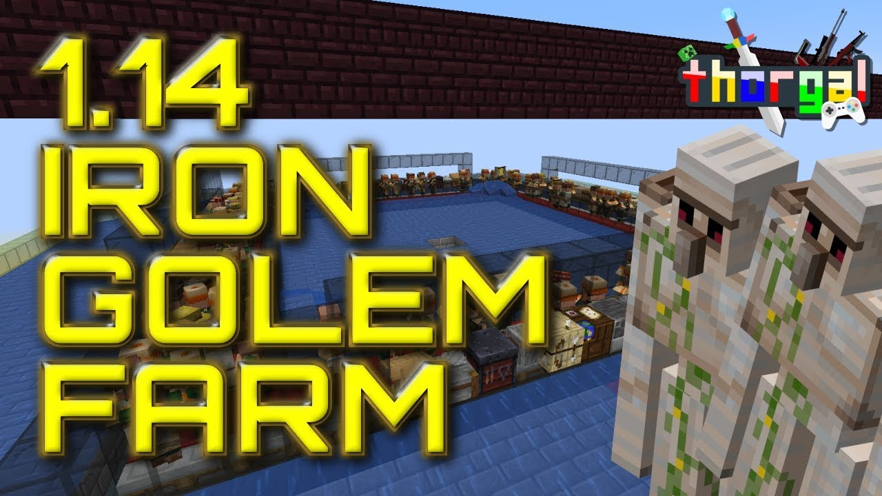 How to make an iron golem 1.14