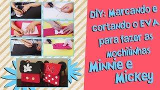 Como marcar os moldes no EVA e cortar para fazer mochila Minnie e Mickey de EVA | Blog Criativo