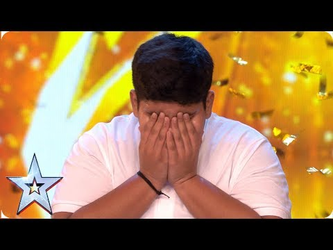 INCREDIBLE Akshat Singh dances his way to Ant & Dec&39;s GOLDEN BUZZER  Auditions  BGT 2019