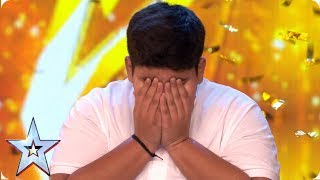 INCREDIBLE Akshat Singh dances his way to Ant & Dec\'s GOLDEN BUZZER | Auditions | BGT 2019