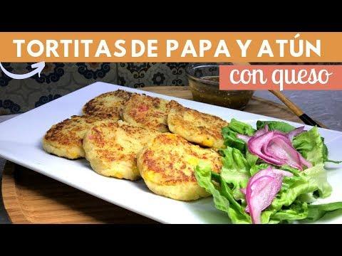 Tortitas de papa con atún y queso | Cocina de Addy