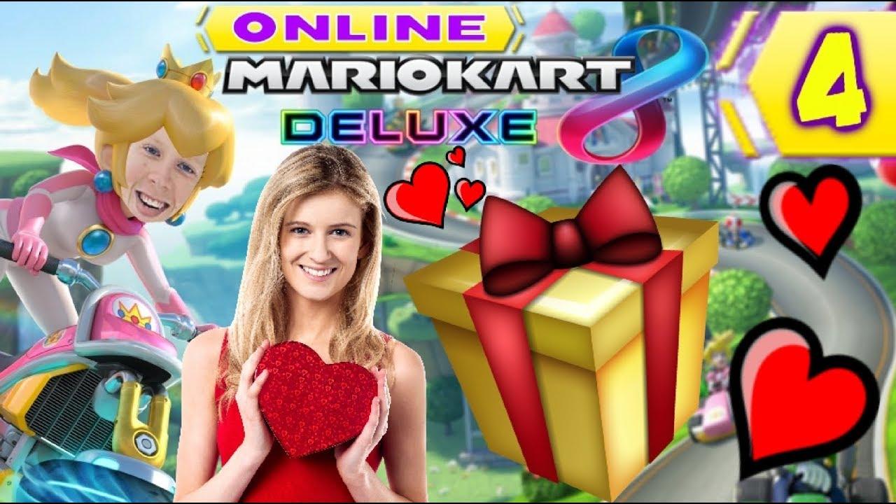 GRATIS VALENTIJNSDAG CADEAUTJE VOOR IEDEREEN!🎁💕 - Mario Kart 8 Deluxe Online #4 #1