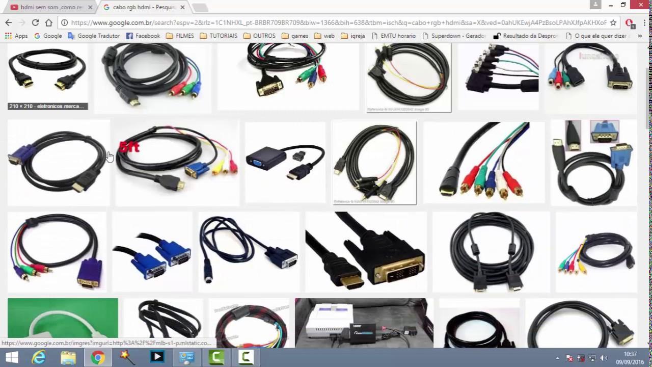 Tipos de cabos para pc e monitor youtube for Tipos de granito para pisos