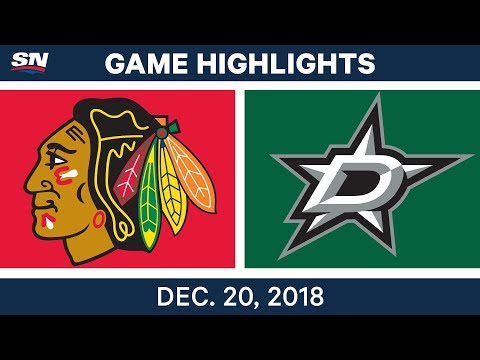 NHL Highlights | Blackhawks vs. Stars - Dec 20, 2018
