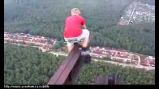 Crazy Russian Kids Climb Old Soviet Tower