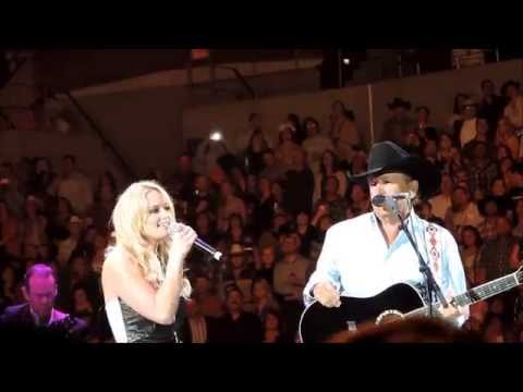 """How 'Bout Them Cowgirls"" and ""Run"" with George Strait and Miranda Lambert--San Diego"