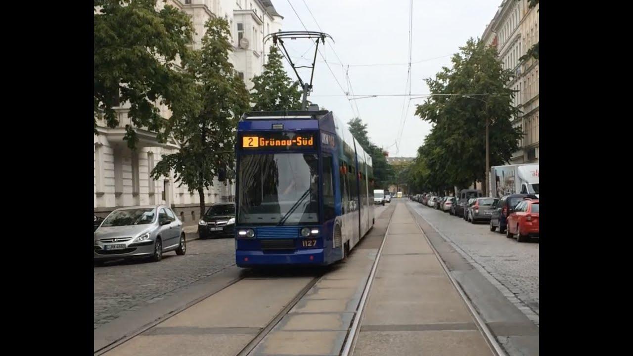 Lvb Straßenbahn Leipzig Linie 2 Nach Grünau Süd Youtube