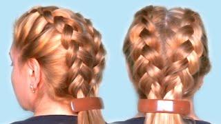 видео Пошаговое плетение кос для начинающих: