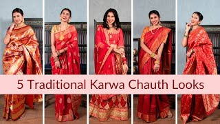 Karwa Chauth करवा चौथ 2019 Outfits Video | Karwa Chauth Special Look for Married Women