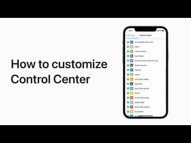 Vidéo Apple: comment personnaliser le Centre de contrôle  sur iOS